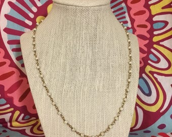 cream long layering necklace