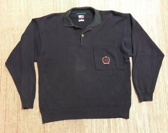 Vintage 90s Tommy Hilfiger Crest Sweater