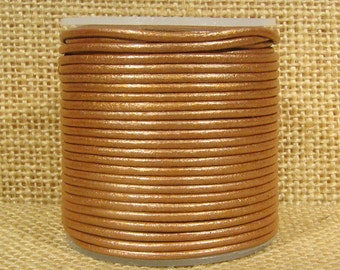 1.5mm Round Indian Leather - Light Rust Metallic - L1.5-240