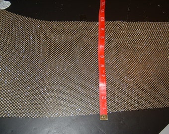 Gold Mesh fabric 9 inches wide 5 yds in length