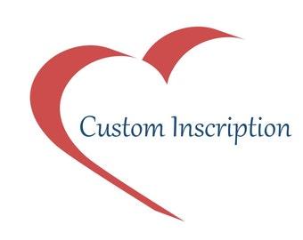 Custom Inscription, Personalized Jewelry, Customized Jewelry