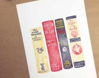 Queens of Crime Fiction Watercolour Art print