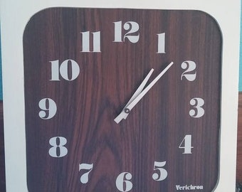 Vintage Verichron Mid-Century Modern Wall Clock