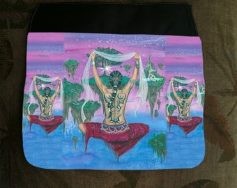 Inner Journey, Extra Hand Pressed Purse Flap For Our Art Shoulder Bag