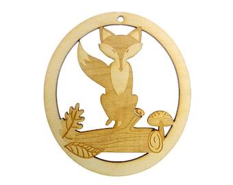 Fox Ornament - Fox Christmas Ornament - Fox Christmas Decor - Fox Gift - Personalized Fox Ornament - Fox Christmas Decoration