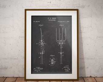Inkedpatentprints on etsy pitchfork 1890 patent print pitchfork patent poster pitchfork blueprint gift for farmer malvernweather Gallery