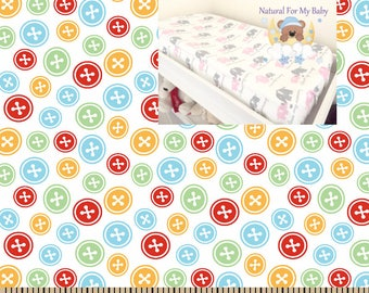 Multi Color Flannel Contoured Changing Pad Cover 100% Cotton Flannel Classic Print Nursery Baby Changing Pad Covering