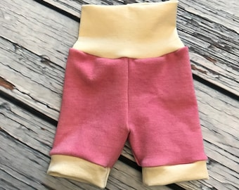 Wool Interlock Shorties - Medium - Pink