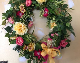 Large Spring-Summer, Front Door, Deck, Porch, Living Room, Office, Dining Room, Fireplace, Grapevine Wreath