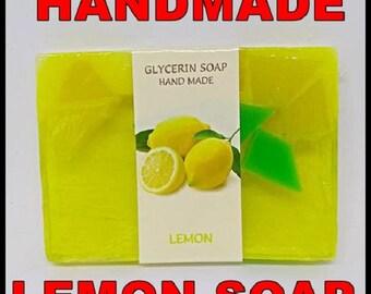 Glicerin Soap Hend Made, 75g, LEMON, Bulgarian Rose