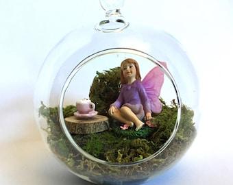 Fairy Garden Terrarium With A Fairy Tea Party