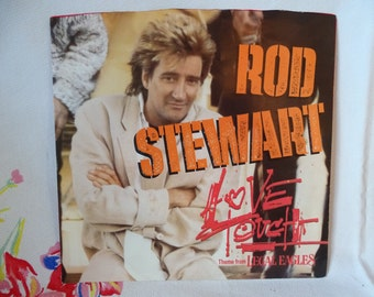 Rod Stewart 1986 Vintage 45 Record Love Touch Legal Eagles Movie Theme Song