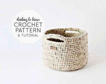 CROCHET PATTERN & TUTORIAL • The Adjustable Basket Pattern • Chunky Texture { Make Almost Any Size Basket }