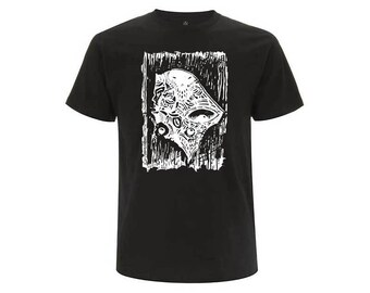 Black unisex organic cotton T-shirt OKIKO