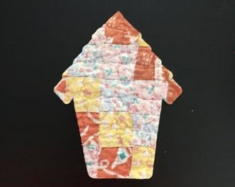 """10 X-Large Birdhouse Die Cuts fr Vintage Around the World Cutter Quilt - 5 1/4"""""""