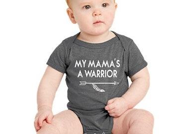 My MaMa's A Warrior - Baby Onesie