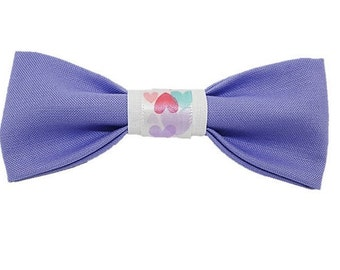 Lavender love dog bow Gifts for dogs and dog lovers Valentines Day Amour Rescue Hearts Best Friends