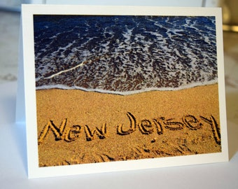 New Jersey Beach Photography Greeting Cards - individual or packs, note cards, ocean, waves, Sandy Hook beach, Monmouth county, Jersey Shore