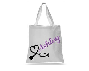 Nurse shoulder bag, nurse tote, totes for nurses, work bag, hospital bag, nurse friend gift, nurse birthday gift