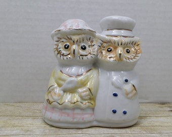 Owl figurine, Chef and baker, vintage owl figurine. 1960s-1970s, vintage owls