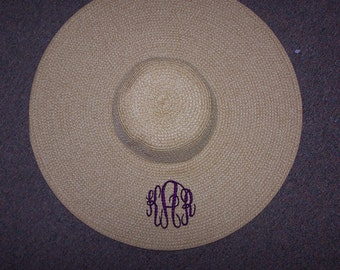 Personalized floppy hat sun natural