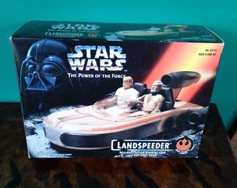 Star Wars The Power of The Force Landspeeder 1990's Kenner