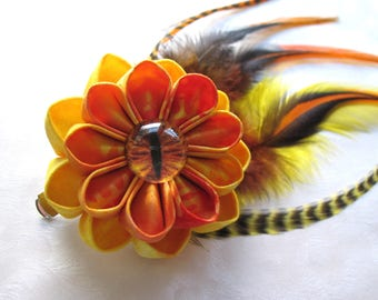 Serpent of the Living Flame Kanzashi Hair Flower