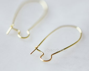 hoop brass lead wide earrings item kidney cadmium free and about ear wires components golden