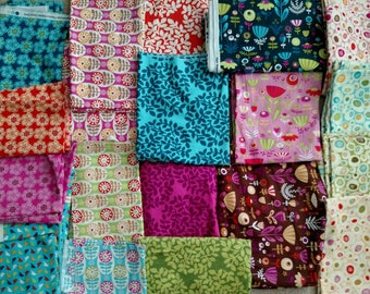 22 Yards of Park Slope by Erin McMorris Fabric DESTASH LOT. yardage and scraps, Quilting Cotton. 8.5 POUNDS Colorful Quilt Kit Rare modern