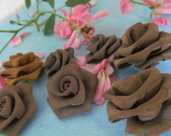 Vintage Rose Wire Mesh Patina Metal Flower