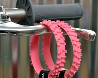 2 PINK KNOBBY Dirt Bike Tire Wristbands