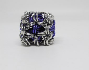 Chainmaille  Cube/ desk toy/ stress reliever/ hacky sack