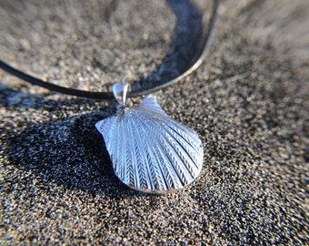 Sterling Silver Aromatherapy Sea Shell Pendant Necklace