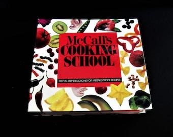 McCalls Cooking, McCalls Cookbook, McCalls School, Cooking Binder, How To Cook, Recipe Binder, McCalls Binder, Vintage Cookbook, Cooking