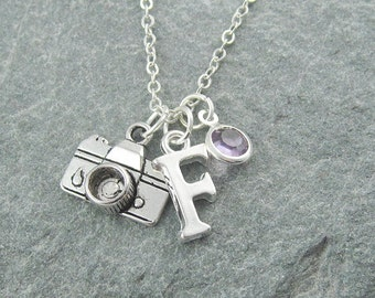 gift and photography tiny ca etsy necklace market compass jewelry il camera