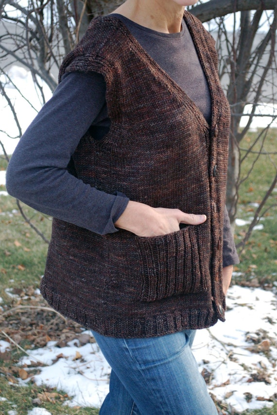 Easy To Knit Vest Knitted Vest Invested Vest Knitting Pattern