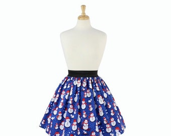 ON SALE!!! Holiday Snowman Skirt