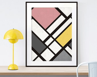 Geometric color blocks Printable Art scalable to 50x70 cm