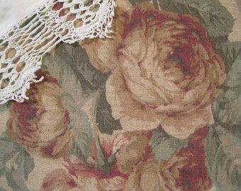 Designer Fabric, Fabric, 5th Avenue Designs, Supplies, Sewing Supplies, Yardage, Roses, Textiles, Upholstery,  by mailordervintage on etsy