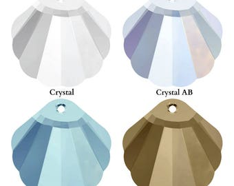 Swarovski Crystal 6723 Shell Pendant 28mm Pick You Colour