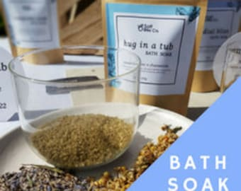 hug in a tub - BATH SOAK | bath salts| all natural | supporting relaxation, relief of anxiety and stress| herbs| essential oils | calming