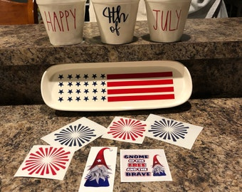 4th of July decals