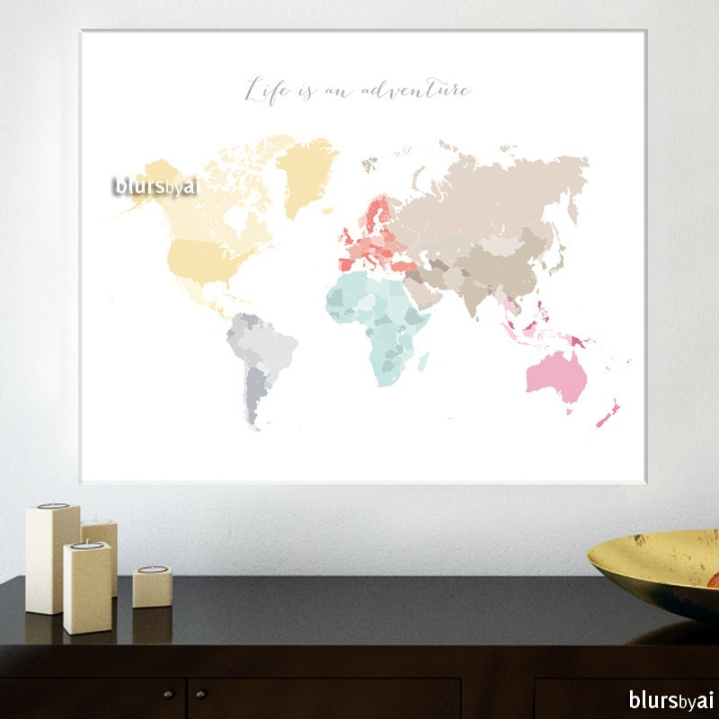 30x24 24x18 printable world map diy travel zoom gumiabroncs Choice Image