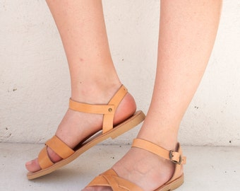 Thick straps sandals shoes, Greek sandals, handmade sandals