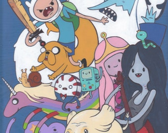 Adventure Time high quality art print 8.5 x 11