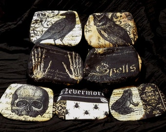 nevermore purse choice of print and size - Freepost to UK
