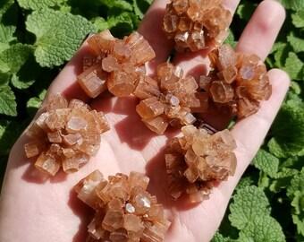 Rough Raw Orange Red Aragonite Crystal Cluster Stone Specimen Piece