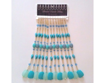 "Beaded Curtain Accents...Set of 12-10"" Straight Beaded Strands for Shower Curtains, Curtains, Draperies or as Suncatchers"
