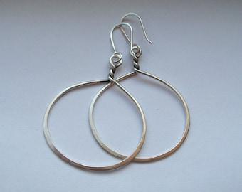 Sterling Silver Twisted Hoops Medium