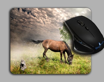 Horse gift,Mouse Pad,horse lover Mouse Pad,Equestrian,Horse Decor,Office Gift,Cloth Top mousepad,MP-110